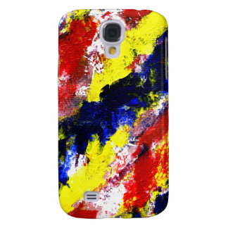 Red Yellow Blue bright colour abstract smear