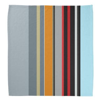 Red Yellow Blue Silver Multicolor Striped Pattern Bandana