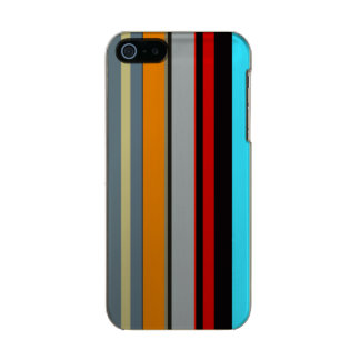 Red Yellow Blue Silver Multicolor Striped Pattern Incipio Feather® Shine iPhone 5 Case