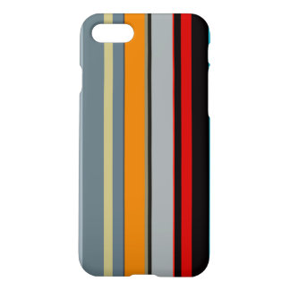 Red Yellow Blue Silver Multicolor Striped Pattern iPhone 8/7 Case