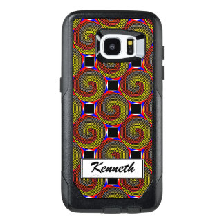 Red Yellow Blue Spiral by Kenneth Yoncich OtterBox Samsung Galaxy S7 Edge Case