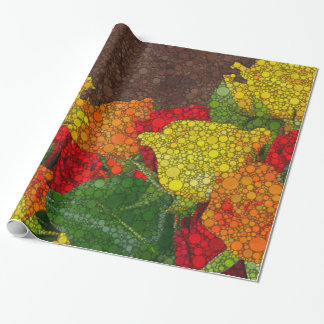 Red Yellow Brown Flower Abstract