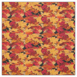 Red Yellow Brown Orange Autumn Leaves Fabric