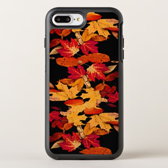 Red Yellow Brown Orange Autumn Leaves OtterBox Symmetry iPhone 7 Plus Case