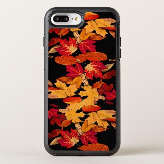 Red Yellow Brown Orange Autumn Leaves OtterBox Symmetry iPhone 8 Plus/7 Plus Case