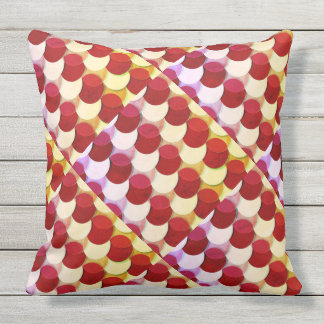 Red Yellow Circle Scales Outdoor Indoor Pillow