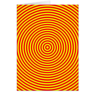 Red & Yellow Concentric Circles Card