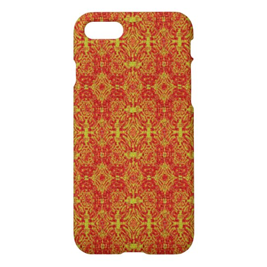 red yellow cool abstract pattern iPhone 8/7 case