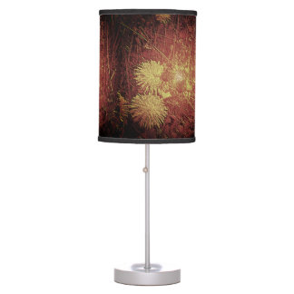 Red Yellow Dandelion-Foggy Look Table Lamp