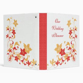 Red & Yellow Floral Wedding Planner 3 Ring Binder
