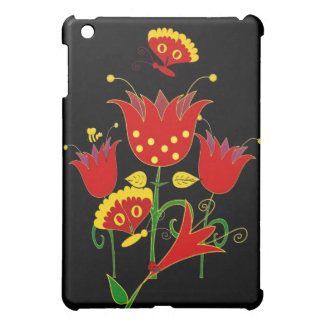 Red Yellow Flowers Floral iPad Mini Cases
