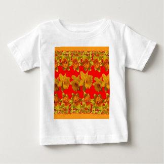 RED-YELLOW GARDEN DAFFODILS ART BABY T-Shirt