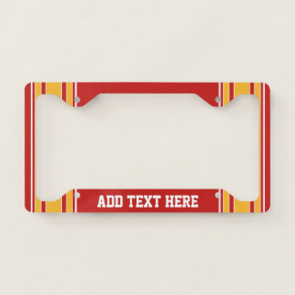 Red Yellow Gold Football Jersey Custom Name Number License Plate Frame