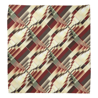 Red Yellow Green Brown Geometrical Pattern Bandana