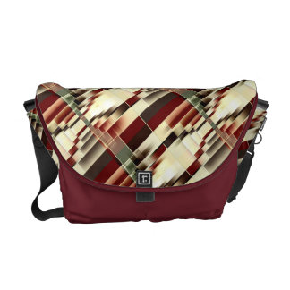 Red Yellow Green Brown Geometrical Pattern Commuter Bag