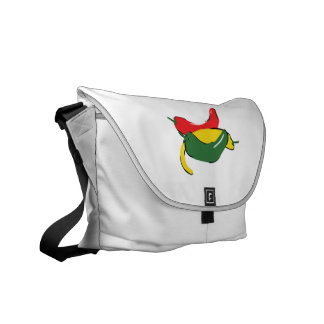 Red Yellow Green Chili Pepper Graphic Messenger Bags