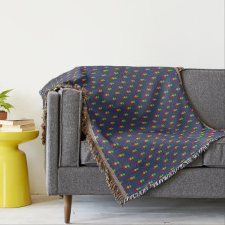 Red Yellow Green Dot Pattern Throw