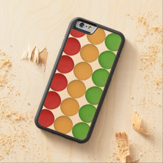 Red Yellow Green Dots Maple iPhone 6 Bumper