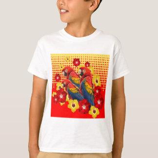 RED-YELLOW HIBISCUS & MACAWS T-Shirt