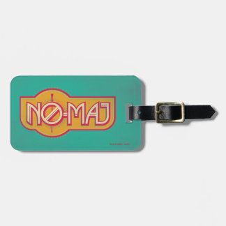 Red & Yellow No-Maj Badge Bag Tag