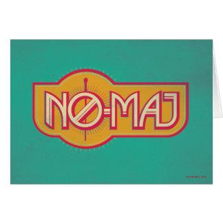 Red & Yellow No-Maj Badge Card