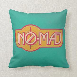 Red & Yellow No-Maj Badge Throw Pillow