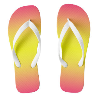 Red Yellow Ombre Flip Flops