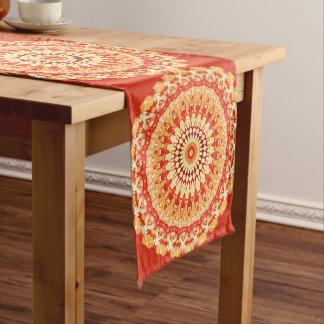 Red Yellow Orange Summer Sun Mandala Pattern Medium Table Runner