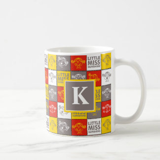 Red & Yellow Pattern | Monogram Coffee Mug