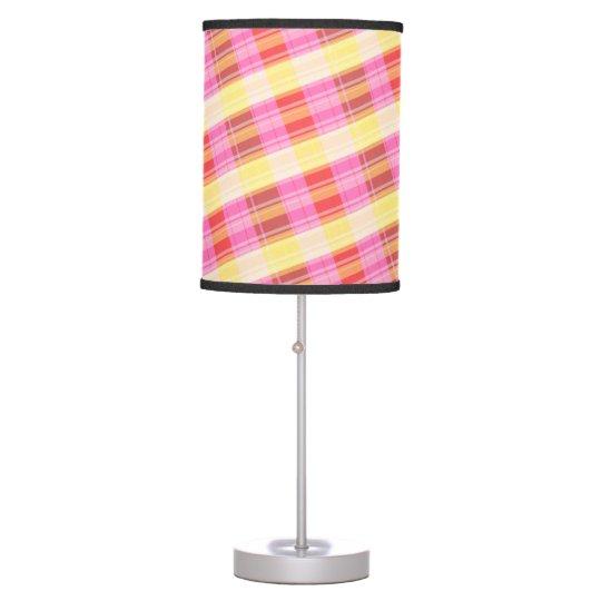 red yellow plaid lamp