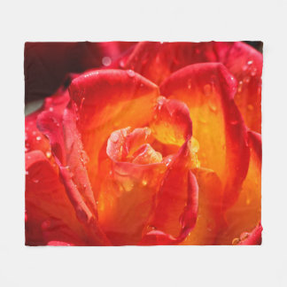 Red & Yellow Rose Fleece Blanket