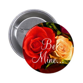 Red Yellow Rose II Button