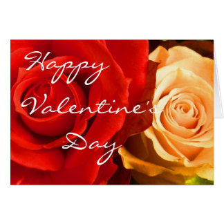 Red Yellow Rose Valentine III Card