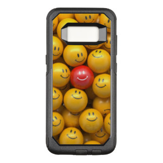 Red Yellow Smiley Faces Pattern Design OtterBox Commuter Samsung Galaxy S8 Case