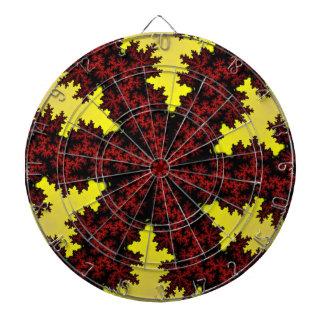 Red Yellow Snowflake Dartboard
