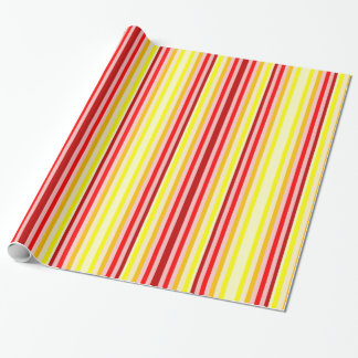 Red & Yellow Striped Wrapping Paper
