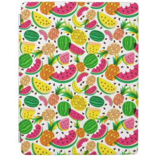 Red & Yellow Tropical Fruit Pattern iPad Cover