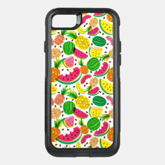 Red & Yellow Tropical Fruit Pattern OtterBox Commuter iPhone 8/7 Case
