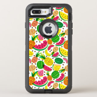 Red & Yellow Tropical Fruit Pattern OtterBox Defender iPhone 8 Plus/7 Plus Case