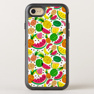Red & Yellow Tropical Fruit Pattern OtterBox Symmetry iPhone 8/7 Case