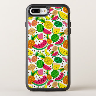 Red & Yellow Tropical Fruit Pattern OtterBox Symmetry iPhone 8 Plus/7 Plus Case