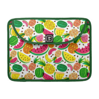 Red & Yellow Tropical Fruit Pattern Sleeve For MacBook Pro