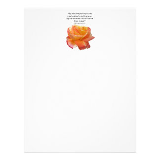 Red Yellow Variegated Rose Letterhead