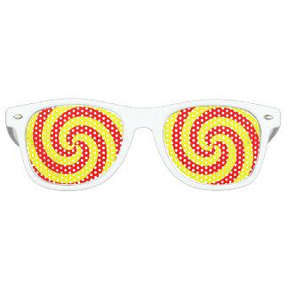 RED/YELLOW whirlpools Retro Sunglasses
