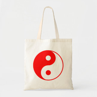 Red Yin Yang Tote Bag