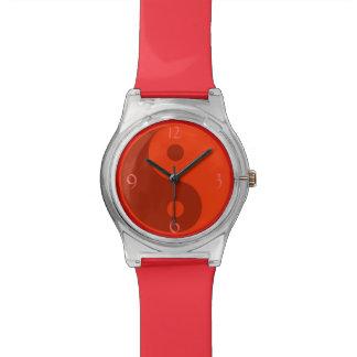 Red Yin Yang Wristwatch