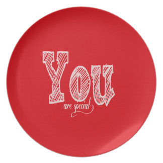 Red You Are Special Plate
