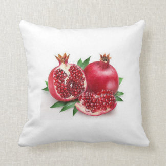 Red Yummy Pomegranates, Throw Pillow