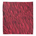Red Zebra Animal Print Bandana