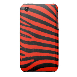 Red Zebra iPhone 3G/3GS Case-Mate Barely There™ iPhone 3 Case-Mate Case